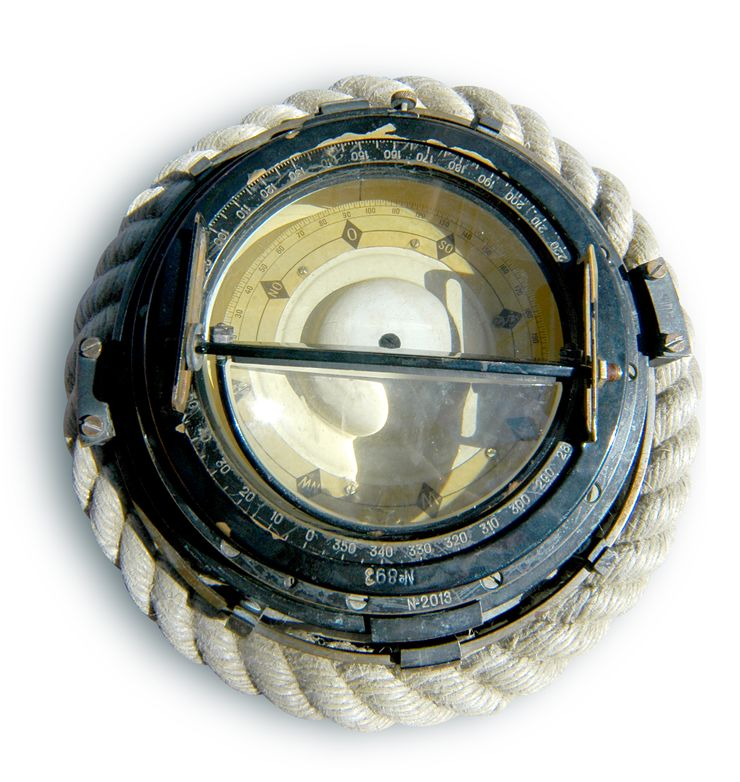 Picture Of Old Naval Compass