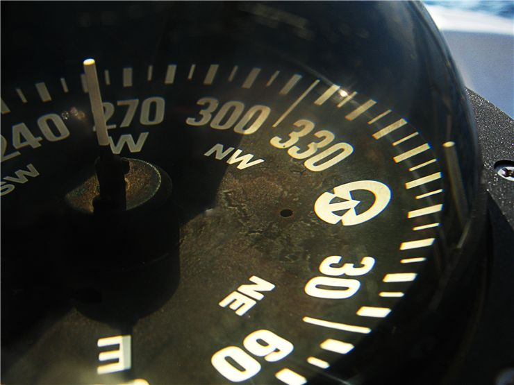 Picture Of Old Yacht Compass